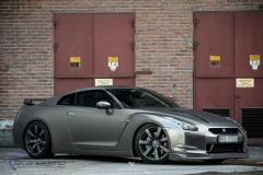 Nissan GTR black matte chrome-5