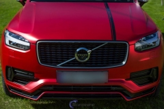 Ny volvo xc90 foliert i matt rod chrom-13