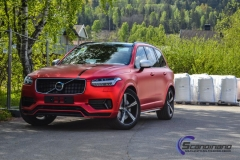 Ny volvo xc90 foliert i matt rod chrom-3