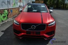 Ny volvo xc90 foliert i matt rod chrom-4