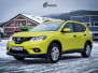 Nye Nissan X-TRAIL helfoliert i Matt Yellow Flash fra PWF