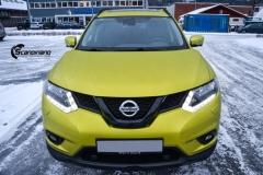 Nye Nissan X-TRAIL helfoliert i Matt Yellow Flash fra PWF-15