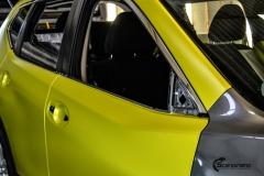 Nye Nissan X-TRAIL helfoliert i Matt Yellow Flash fra PWF-4