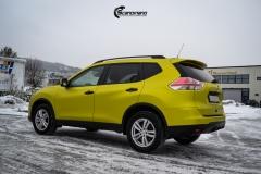 Nye Nissan X-TRAIL helfoliert i Matt Yellow Flash fra PWF-5