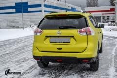 Nye Nissan X-TRAIL helfoliert i Matt Yellow Flash fra PWF-6