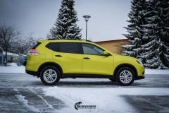 Nye Nissan X-TRAIL helfoliert i Matt Yellow Flash fra PWF-7
