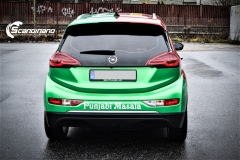 Opel Ampera foliert med 2 farger Gloss Green Envy Gloss Dragon Fire Red, dekor-10