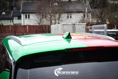 Opel Ampera foliert med 2 farger Gloss Green Envy Gloss Dragon Fire Red, dekor-11