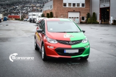 Opel Ampera foliert med 2 farger Gloss Green Envy Gloss Dragon Fire Red, dekor-12