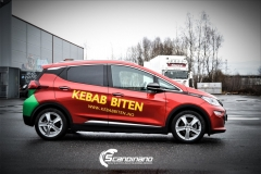 Opel Ampera foliert med 2 farger Gloss Green Envy Gloss Dragon Fire Red, dekor-3