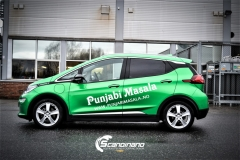 Opel Ampera foliert med 2 farger Gloss Green Envy Gloss Dragon Fire Red, dekor-7
