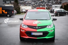 Opel Ampera foliert med 2 farger Gloss Green Envy Gloss Dragon Fire Red, dekor-8