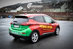 Opel Ampera foliert med 2 farger Gloss Green Envy Gloss Dragon Fire Red, dekor-9