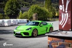 Porsche 911 GT4  Helfoliert i GLOSS Grass Green fra Avery