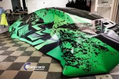 Porsche 911 Helfoliert med print folie.--10