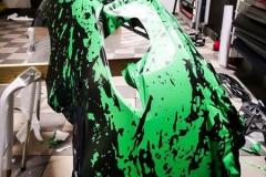 Porsche 911 Helfoliert med print folie.--16