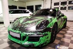 Porsche 911 Helfoliert med print folie.--17