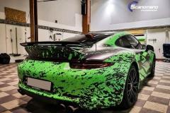 Porsche 911 Helfoliert med print folie.--20