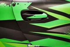 Porsche 911 Helfoliert med print folie.--4
