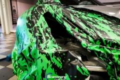 Porsche 911 Helfoliert med print folie.--8