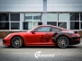 Porsche 911 Turbo S helfoliert med Dragon Fire Red