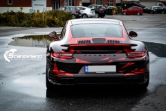 porsche 911 Turbo S helfoliert i Dragon Fire Red-10