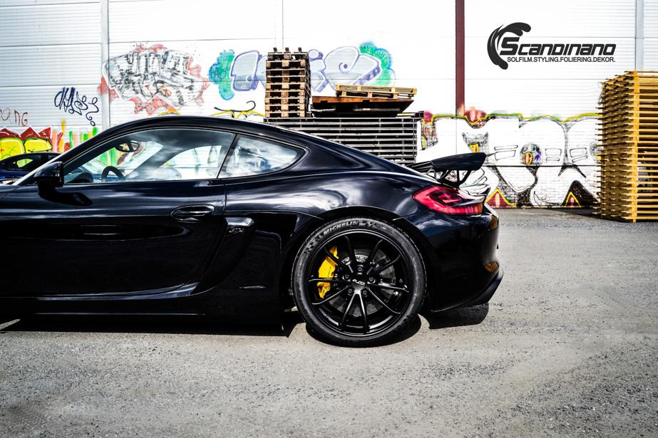 Porsche Cayman helfoliert med lakkbeskyttelsesfilm fra STEK-7
