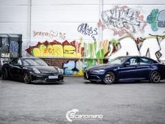 Porsche Cayman helfoliert med lakkbeskyttelsesfilm fra STEK-18