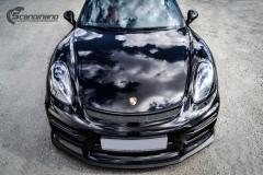 Porsche Cayman helfoliert med lakkbeskyttelsesfilm fra STEK-10
