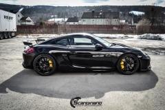 Porsche Cayman helfoliert med lakkbeskyttelsesfilm fra STEK-12