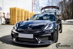Porsche Cayman helfoliert med lakkbeskyttelsesfilm fra STEK-13