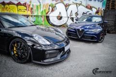 Porsche Cayman helfoliert med lakkbeskyttelsesfilm fra STEK-15