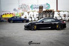 Porsche Cayman helfoliert med lakkbeskyttelsesfilm fra STEK-3