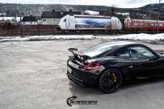 Porsche Cayman helfoliert med lakkbeskyttelsesfilm fra STEK-5