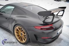 Porsche GT3 foliert med Black Gold, decor stripe-10