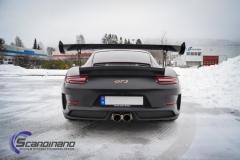 Porsche GT3 foliert med Black Gold, decor stripe-11