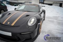 Porsche GT3 foliert med Black Gold, decor stripe-13