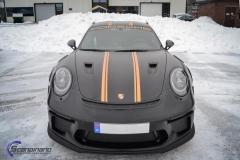 Porsche GT3 foliert med Black Gold, decor stripe-5