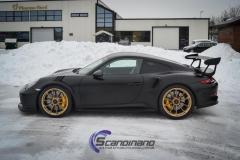 Porsche GT3 foliert med Black Gold, decor stripe-8