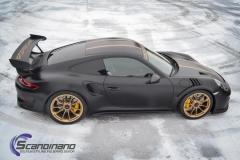 Porsche GT3 foliert med Black Gold, decor stripe-9