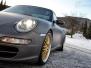 Porsche helfoliert i Satin Dark Grey fra 3M