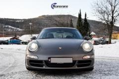 Porsche helfoliert i Satin Dark Grey fra 3M-13
