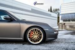 Porsche helfoliert i Satin Dark Grey fra 3M-8