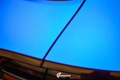 Porsche Macan helfolirt med Matt Anodized Blue 2.0 fra PWF-11