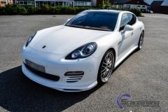 Porsche panamera foliert  i hvit deep satin-4