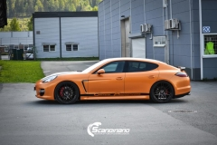 Porsche panamera foliert i orange Scandinano_ — копия