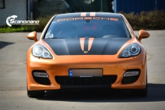 Porsche panamera foliert i orange Scandinano_-4
