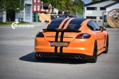 Porsche panamera foliert i orange Scandinano_-7