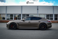 Porsche Panamera helfoliert med Matt Frozen Bronze fra Platinum Wrapping Film (2 из 20)
