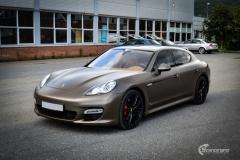 Porsche Panamera helfoliert med Matt Frozen Bronze fra Platinum Wrapping Film (3 из 20)